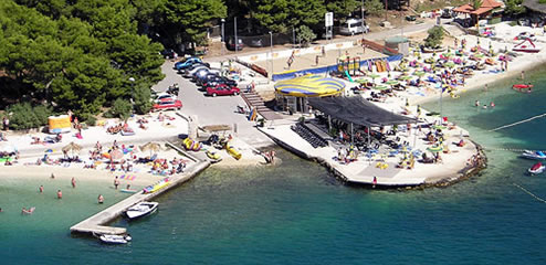 Medena beach in Seget, Trogir