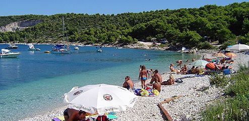 Kava beach in Slatine, Trogir